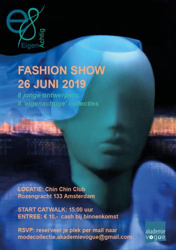 Graphic poster design for fashion show 'Eigenachtig'