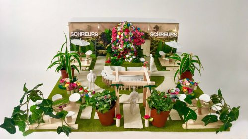 Photo of hand made maquette for flower fair